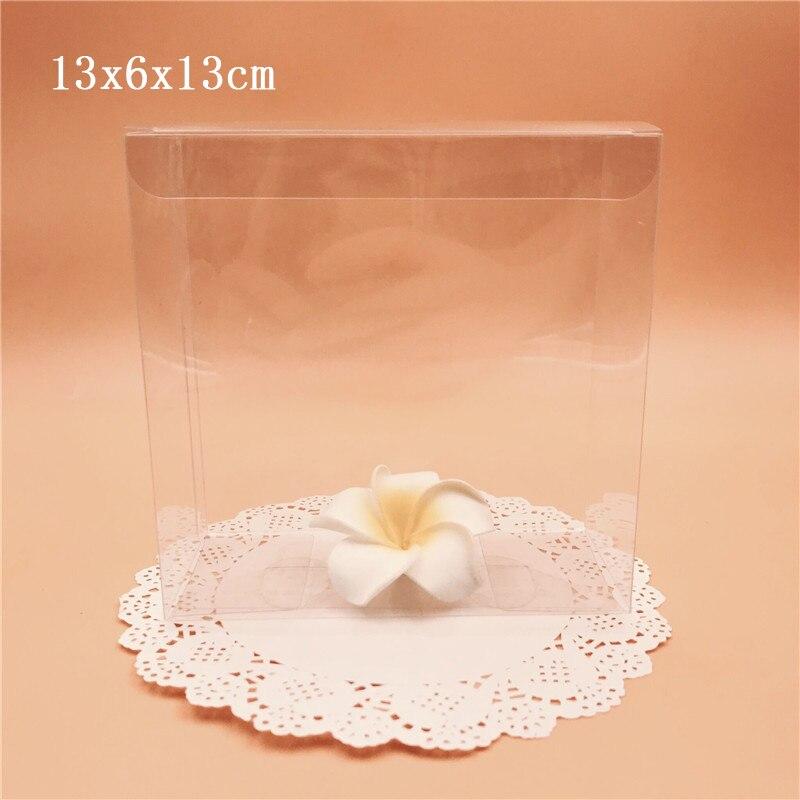 13*6*13 cm clair PVC cadeau boîtes de mariage faveur bonbons emballage boîte Souvenir Transparent chocolat paquet boîte