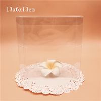 13*6*13cm Clear PVC Gift Boxes Wedding Favor Candy Packing Souvenir Box Transparent Chocolate Package Box