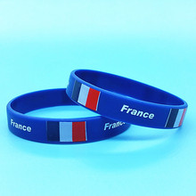 Silicone Bracelet Bangle-Accessories Flag Wristband Men Country Rubber-Band 100pcs Logo