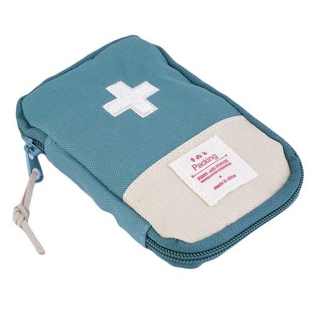 New Outdoor Camping Home Survival Portable First Aid Kit bag Case (Green)