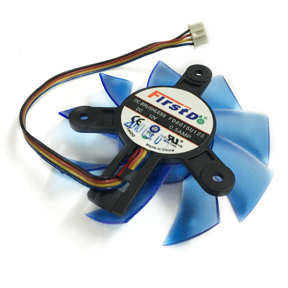 free shipping diameter 75mm Computer VGA Cooler Video Card Fan For HIS R7-260X HD5870 5850 Graphics Card cooling 1pcs graphics video card vga cooler fan for ati hd5970 hd4870 hd4890 hd5850 hd5870 hd4890 hd6990 hd6970 hd7850 hd7990 r9295x