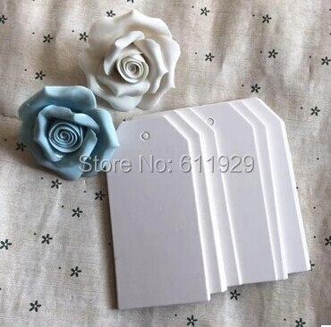 Free shipping wholesales 300 pcs a lot 4.5x9.5cm blank white hang tag/gift price tag/clothing paper hang tag/trademarks/labels