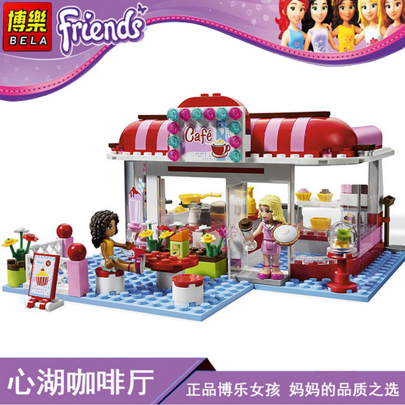 Lepin Pogo Bela 10162 Andrea/Marie's Park Cafe Assembled Girls Friends Building Blocks Bricks Compatible Legoe Toys 10162 friends city park cafe building blocks bricks toys girl game toys for children house gift compatible with lego gift