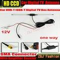 Envío libre Del Coche DVB-T ISDB-T Digital TV Antena Del Coche Antena de TV coche Antena de TV con un Amplificador Booster conector SMA 5 M