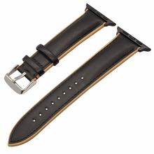 France Genuine Leather Watchband Double Color Strap for iWatch 38mm 42mm