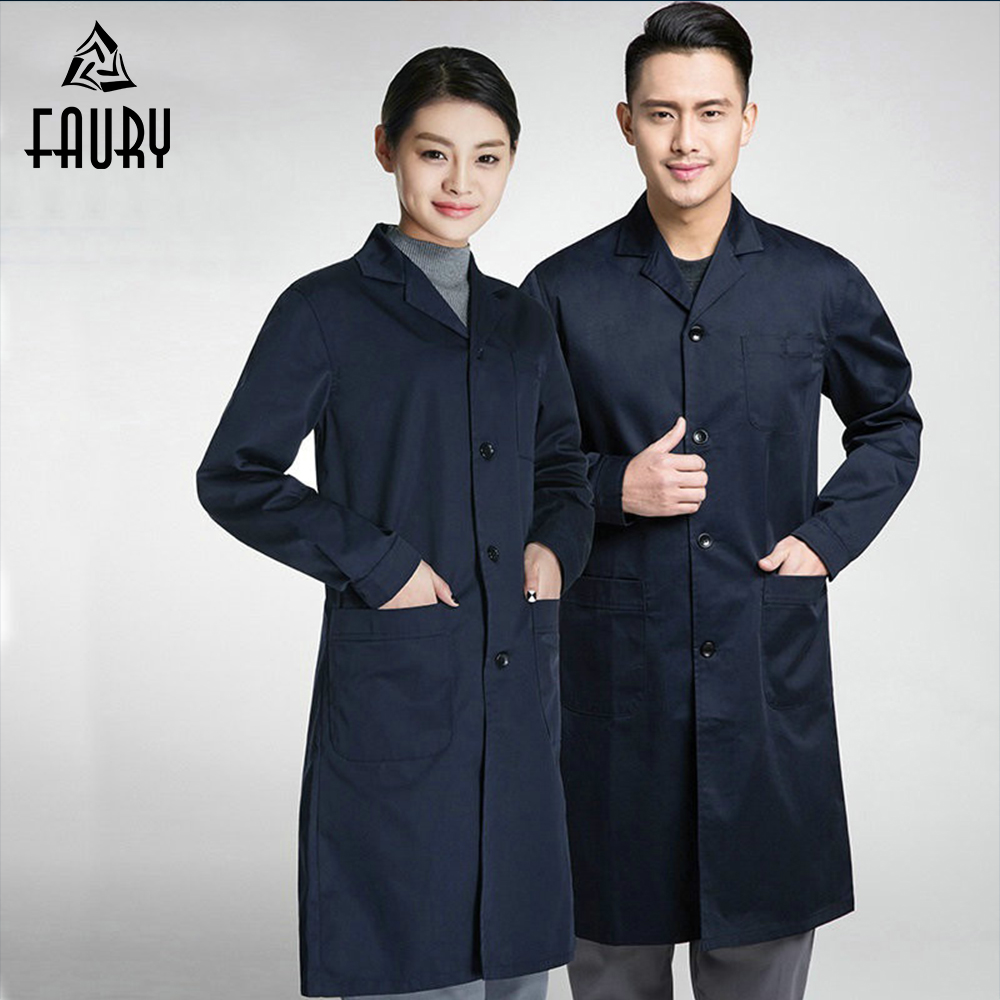 2018 Medical Clothing Doctor Work Wear Uniforms Women Men Jacket Hospital Dental Clinic Beauty Salon Lab Coat High Quality