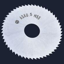 Мини-циркулярная пила Лезвие 63 мм HSS высокоскоростной Сталь 72-зубы колесные диски 16 мм отверстие для дерева Алюминий металлическая пластина режущего инструмента
