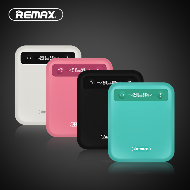 REMAX PINO Power Bank 2500mAh 9.5Wh Mini Portable Charger Polymer Battery External Battery Pack Power Bank for iphone Xiaomi