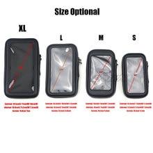 Motorcycle Handlebar Phone Holder Zipper Pocket Waterproof PU Leather Pouch Universal