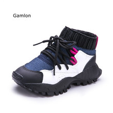 Koovan Children Boots 2017 New Autumn Children's Sports Sneakers Boys Girls Casual Fashion Run Kid Sock Shoes Boots
