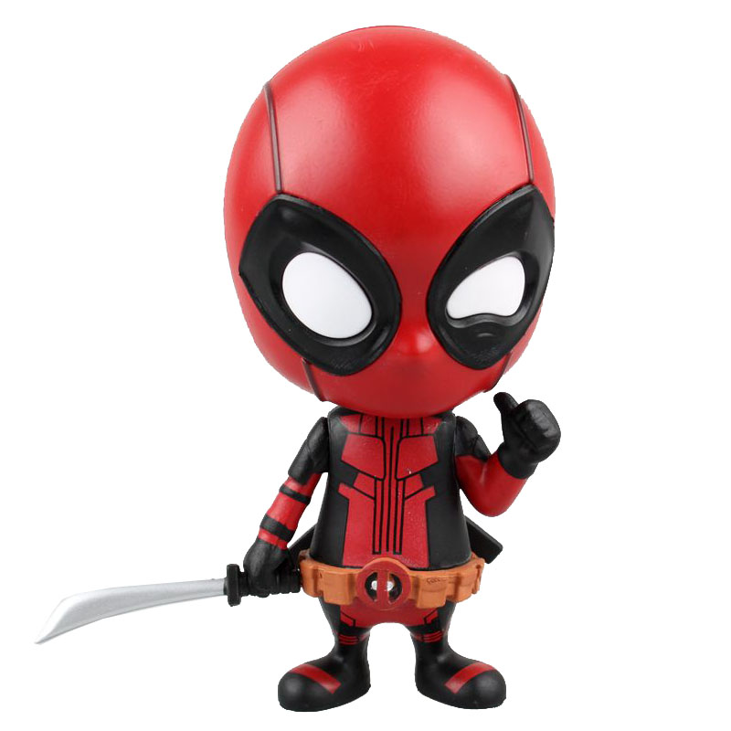 Deadpool Bobble-Head Shake Head Doll PVC Action Figure Collectible Model Toy 10cm KT2523 funko pop marvel deadpool 20 bobble head pvc action figure collectible model toy 4 10cm kt2203