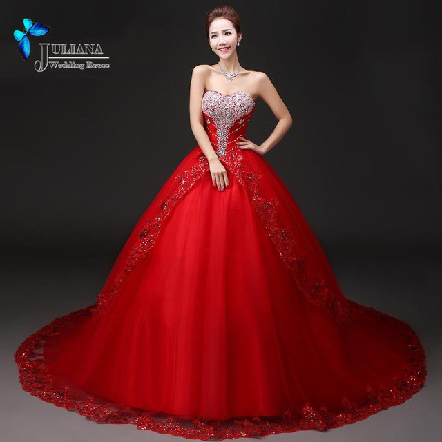 Buy new plus size bridal gown luxury for Where to buy red wedding dress