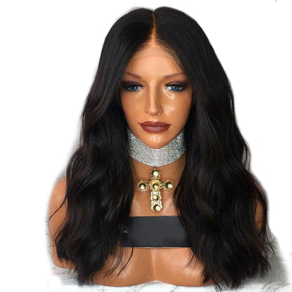 Wavy Wig 180 Density Lace Front Human Hair Wigs For Women Black Color Deep Part 13x6 Lace Front Wigs Aimoonsa Remy European Hair