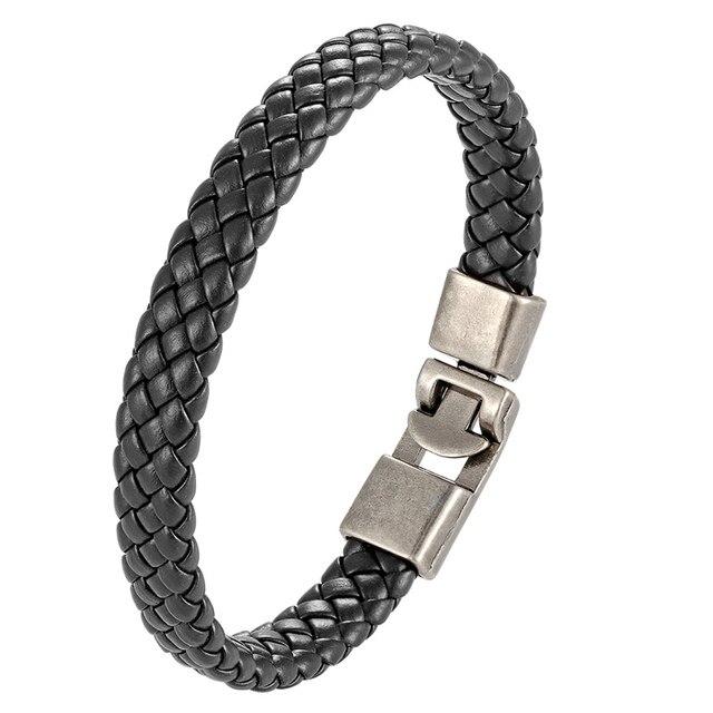 Фото новый плетеный браслет из натуральной кожи для мужчин и женщин