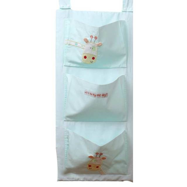 Bebé cama de montaje colgar la bolsa De almacenamiento de Noche con Tres bolsillos grandes y patrón de la historieta Encantadora estilo Horizontal o Vertical