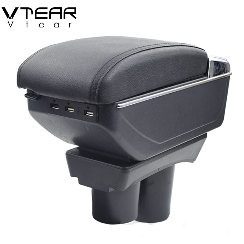 vtear for peugeot 301 armrest box usb charging interface heighten central store content box cup. Black Bedroom Furniture Sets. Home Design Ideas