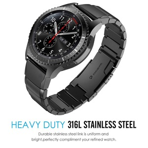 Image 3 - 20mm 22mm Metal Stainless Steel Strap for Samsung Watch Active Gear S3 S2 Classic bands for huami Amazfit GTR Bip huawei GT Band