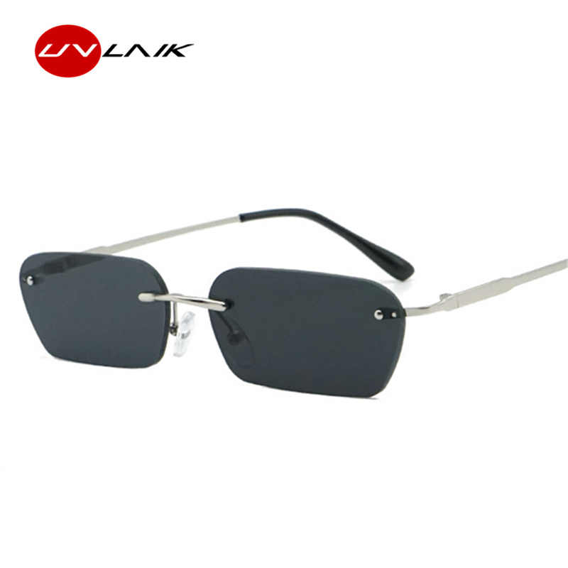 123e5275a2 ... UVLAIK 2019 vintage rimless sunglasses women luxury brand cat eye sun  glasses men retro small square ...