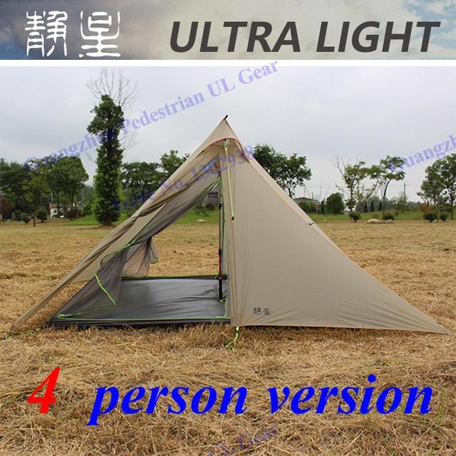 ASTA 30D silnylon high quality 4 person 3 seasons outdoor c&ing pyramid tent & ASTA 30D silnylon high quality 4 person 3 seasons outdoor camping ...