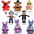 Плюшевые игрушки пять ночей на фредди 25 см размер медведь и лиса и утка и кролик и клоун дети кино плюшевые игрушки K30021