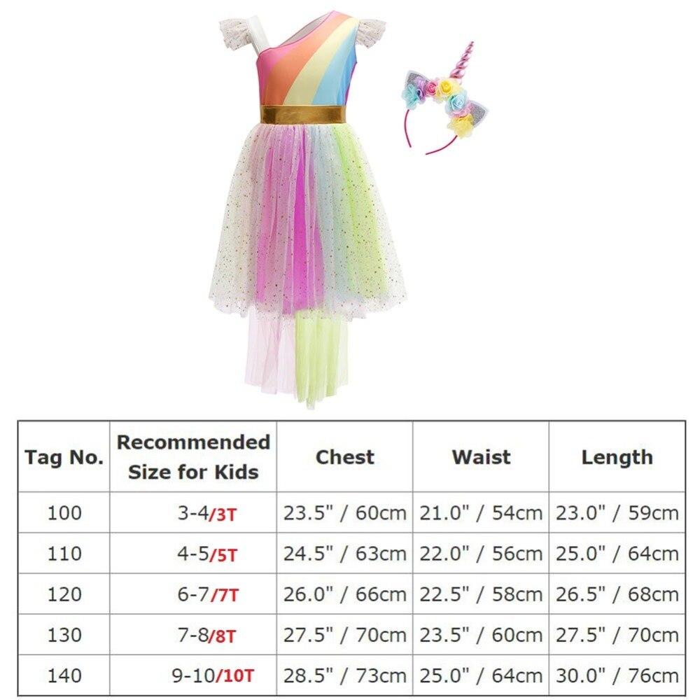 855621b077156 2019 New 2pcs Set Flower Unicorn Dress Up for Children Girls Birthday  Unicorn Party Cosplay Costume Cute Kid Girls Rainbow Dress