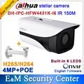 Original Dahua stellar camera 4MP DH-IPC-HFW4431K-I6 Network IP IR Bullet H265 H264 CCTV POE IPC-HFW4431K-I6 with bracket