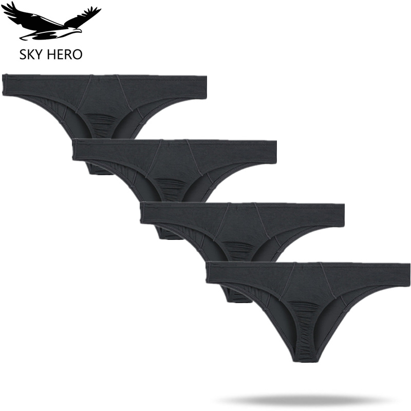 4pcs/lot Men Underwear Sexy Briefs Male Panties For Man Underpants Gay Jockstrap Clothes Calzoncillos Hombre Thong Brief