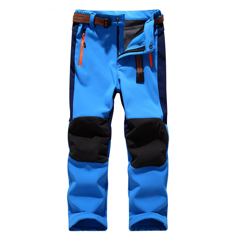 Brand Waterproof Windproof Boys Girls Pants Children Outerwear Warm Trousers Sporty Climbing Trousers Ski Suit For