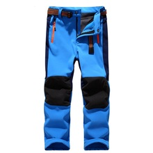 Brand Waterproof Windproof Boys Girls Pants Children Outerwear Warm Trousers Sporty Climbing Trousers Ski Suit For 3-14T
