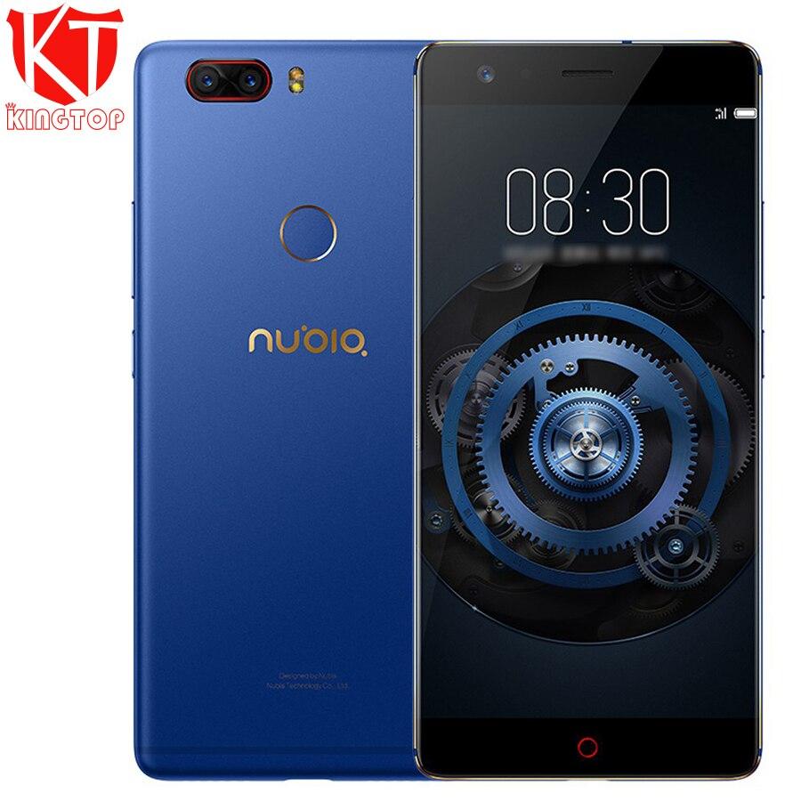 D'origine ZTE Nubia Z17 Lite Mobile Téléphone 6 gb RAM 128 gb ROM 5.5 pouce Snapdragon 653 Octa Core 4g LTE Double 13MP Arrière Caméra NFC