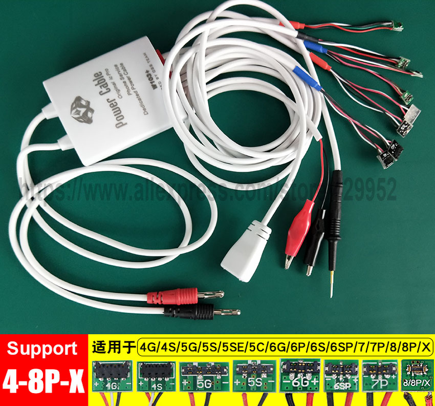 Repair-Kits Professional Phone Service Dedicated Power Cable for iPhone X /& 8 Plus /& 8 /& 7 Plus /& 7 /& 6s Plus /& 6s /& 6 Plus /& 6 /& 5S /& 5SE /& 5C /& 5 /& 4S /& 4