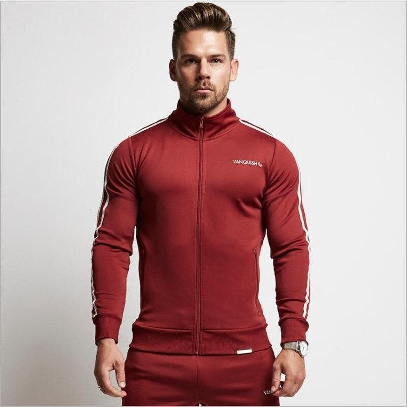 Мужской моды бренд спортивной четыре сезона костюм Для мужчин толстовки комплекты Для мужчин s тренажерные залы Спортивная одежда для бега ...