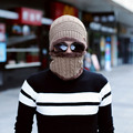 Autumn Winter 2 pieces Men Woman Knitted Warm Hat Caps+Scarf Solid Wool Cap Thick Baggy Neckerchief 6 Colors Warm Headwear