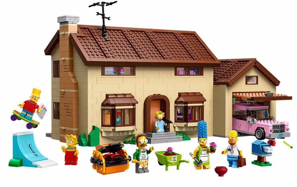 цена на LEPIN 16005 Simpsons Series The Simpsons Bart Homer 71006 Building Blocks 2586pcs Bricks Toys Gift For Children