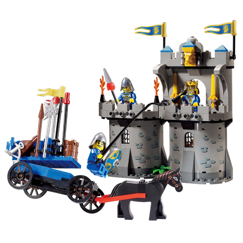 1020 267pcs Knights Castle Constructor Model Kit Blocks Compatible LEGO Bricks Toys for Boys Girls Children Modeling1020 267pcs Knights Castle Constructor Model Kit Blocks Compatible LEGO Bricks Toys for Boys Girls Children Modeling