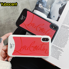 Yubocent Sneakers Case For Iphone XR Xs Max Case Luxury Brand Red Bottom Phone Case For iphone 6 6s 7 8 plus X Back Soft Cover(China)