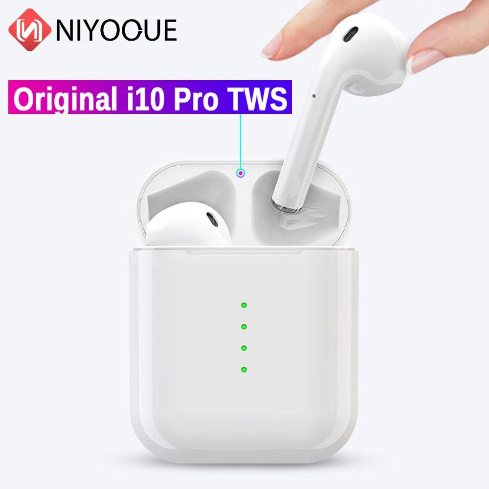 100% D'origine i10 Pro TWS Mini écouteurs bluetooth 5.0 Mini écouteurs Sans Fil Tactile de Contrôle Écouteurs Pour Huawei Xiaomi Samsung