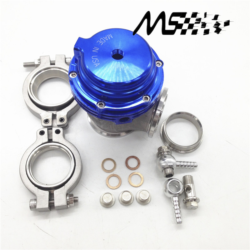 все цены на  BLUE Water cooler 44mm TL Wastegate external turbo red/blue/black With Flange/Hardware MV-R Water-cooled with logo  онлайн