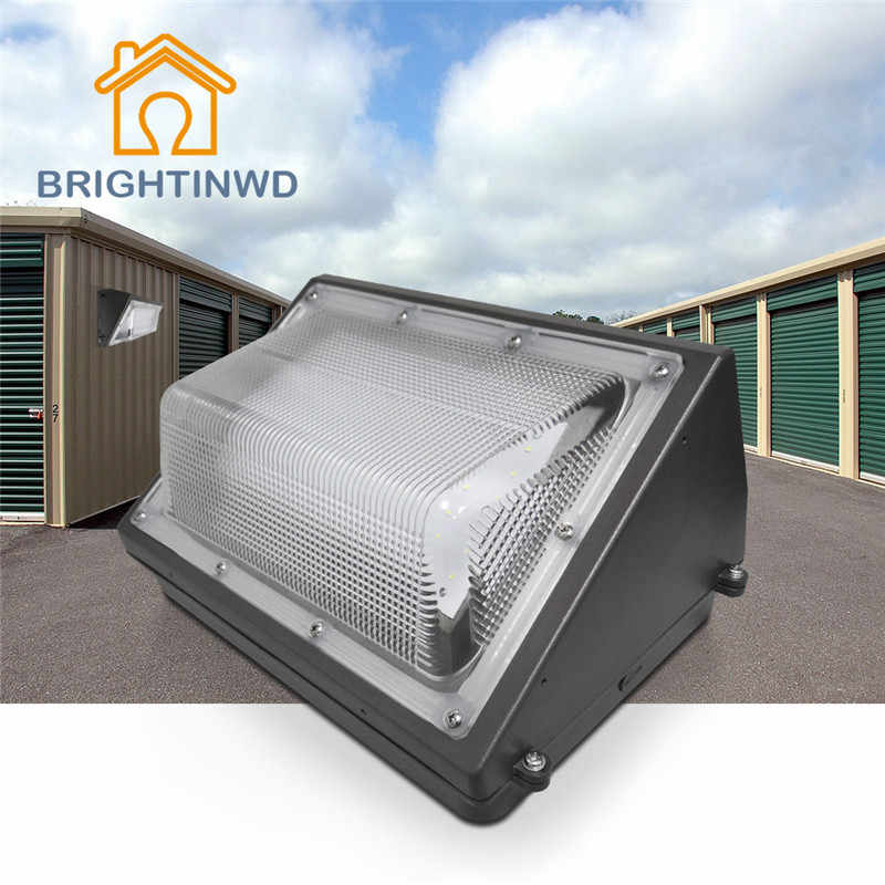 BRIGHTINWD 110V 220V Porch Light Garden Doorway Garage Parking Outdoor Lighting 30W 40W 50W 60W 80W 100W IP65 LED Wall Pack Lamp