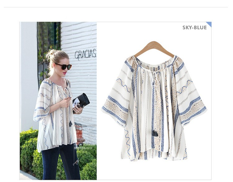 HTB1tFNRLXXXXXbMXFXXq6xXFXXXN - Summer style Kimono blouses top Plus size XL-5XL Women shirts