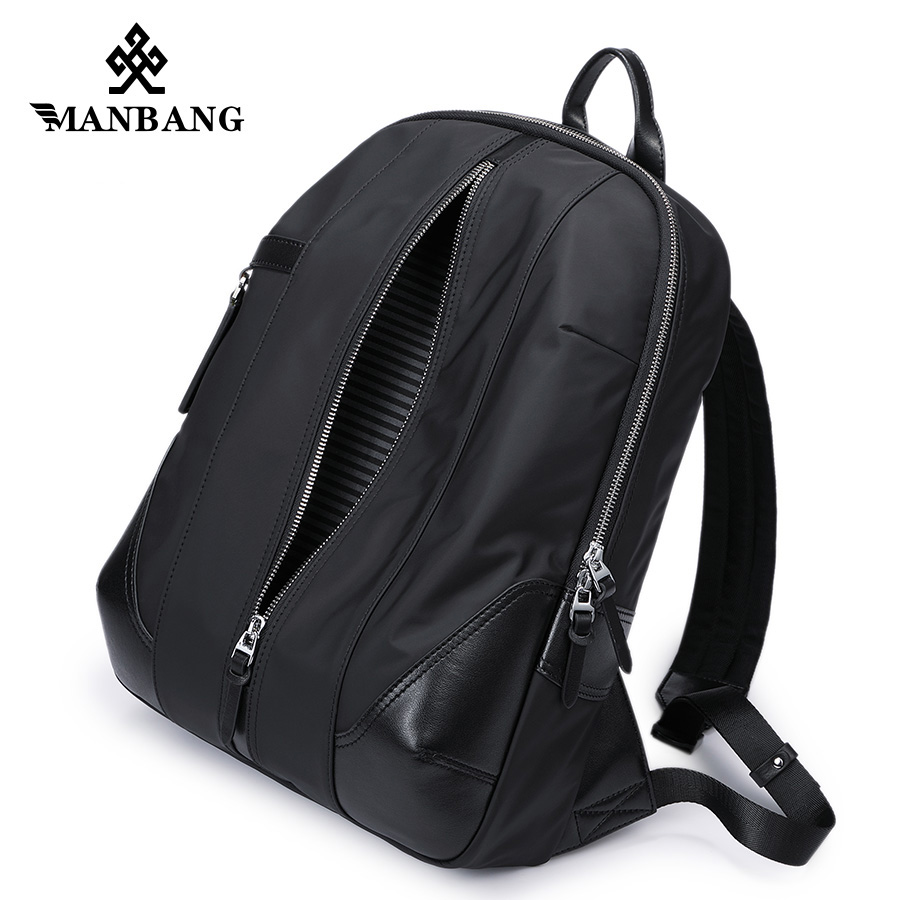 ManBang 2017 New Arrivals Men Backpack For 15.6inches Laptop Backpack Large Capacity Casual Style Bag Water Repellent Backpack men backpack student school bag for teenager boys large capacity trip backpacks laptop backpack for 15 inches mochila masculina