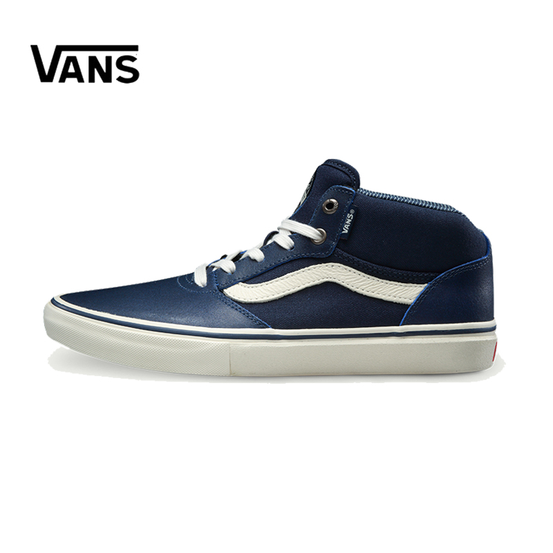Original New Arrival Vans Men's Classic Pro Mid Skateboarding Shoes Sneakers Canvas Comfortable Winter Blue VN0A347NM64 new safurance pet dog anti lost tracker smart bluetooth tracer locator tag alarm tracer finder alarm key chain