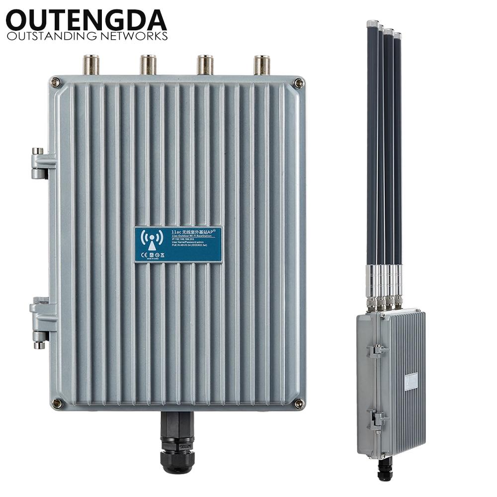 1200 Mbps 48 V PoE Outdoor AP CPE 802.11ac Dual Band 2.4G e 5.8G Wireless Punto di Accesso WiFi ripetitore Del segnale con OMNI ANT