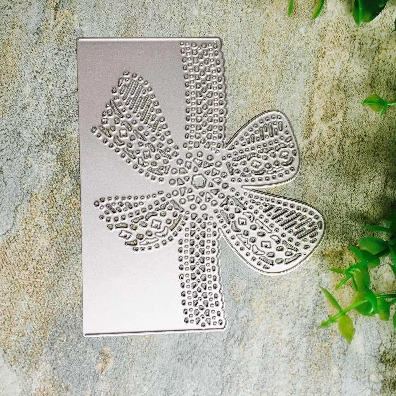 Bow Lace Pattern Metal Cutting Dies DIY Crafts Scrapbooking Knife Mold Carbon Steel Cut Die Stencils Embossing Paper Card