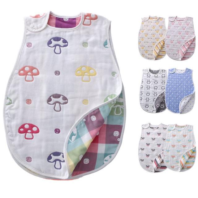 0e2a1b2fd0c0 6Layers Baby Sleepsacks Infant Girls Boys Muslin Sleeping Bag ...