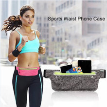 Haissky Waterproof Waist Bag Running Sport Pouch Phone Case For iphone 8 7 6 6S Plus Huawei P8 P9 P10 Lite Xiaomi Redmi Note 4X(China)