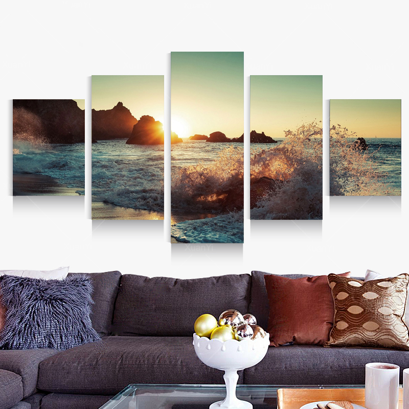 5 Pcs Set Canvas Printings Modern Home Living Room Decoration Art Wall HD Poster Picture