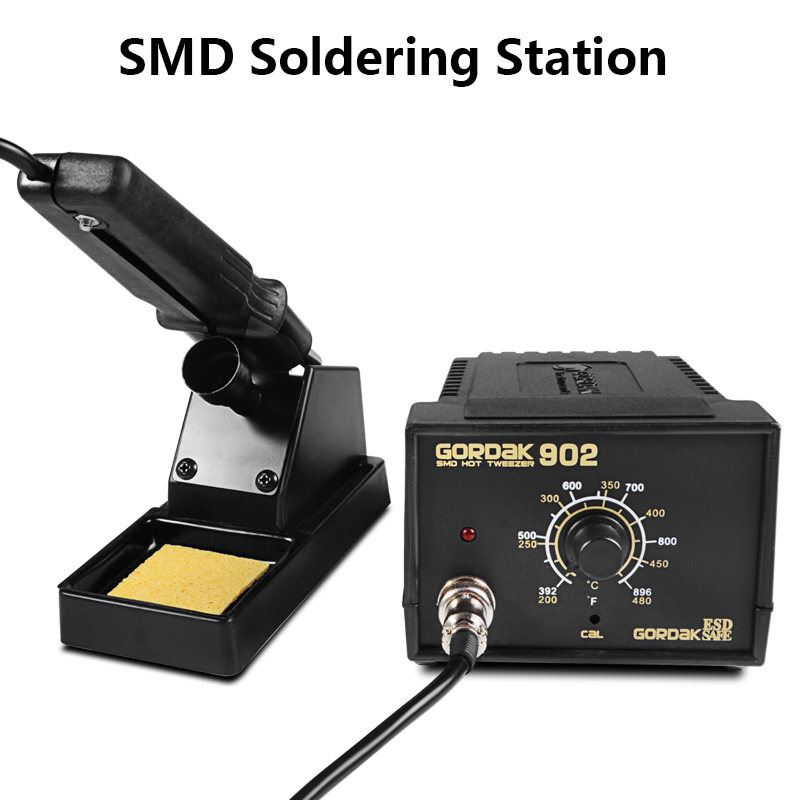 220V 75W 902 SMD Tweezers Soldering Station Hot Air Soldering Station Soldering Iron Soldering Stand Welding Tool Kit цена