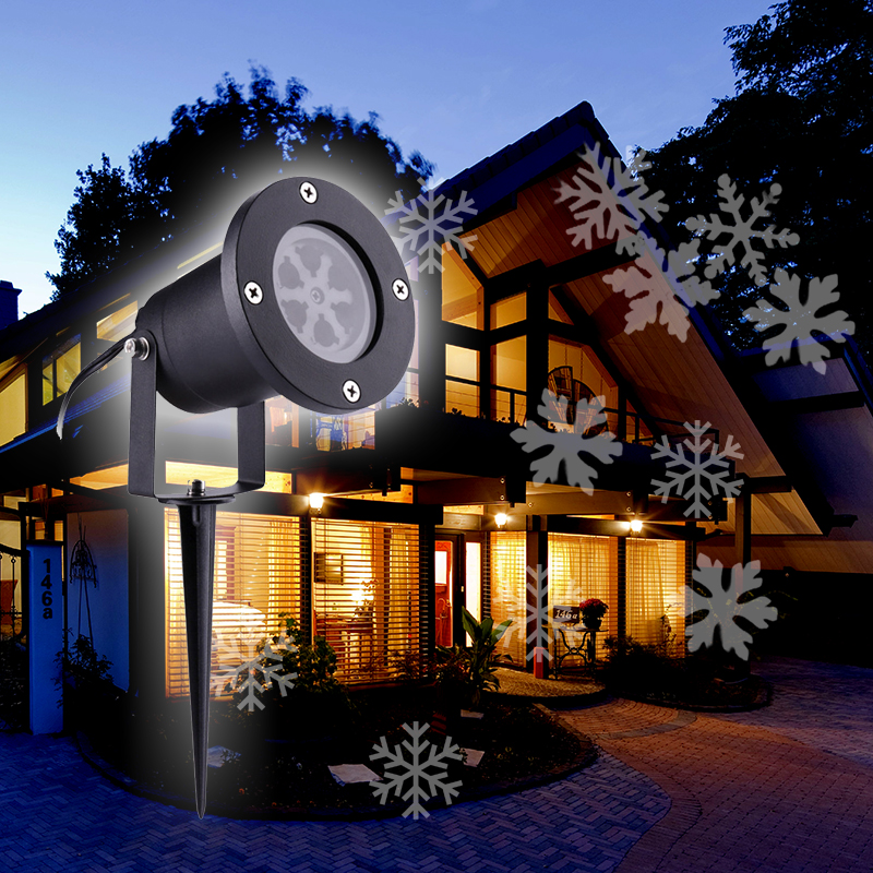18 Christmas Pattern LED Projector Light Home Outdoor Landscape Lamp Decor
