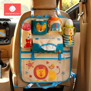 Cartoon Car Back Seat Storage Bag Organizer Baby Stowing Tidying Car Rear Organizer Pocket Kids Automobile Interior Accessories